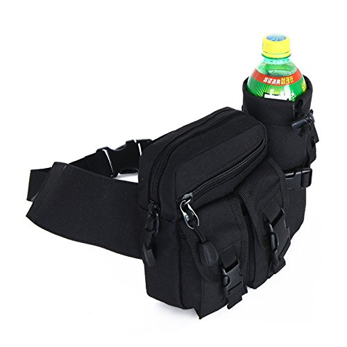 Zll/Army Tactical Pocket Casual Fans von Outdoor Sport Wasser Flasche Fanny Pack Outdoor Radfahren Taschen Reise Klettern Kleine Geldbeutel Schwarz