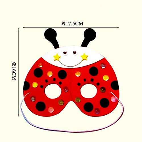 HITSAN INCORPORATION Cartoon DIY Handmade EVA Animal Mask Frog Butterfly Rabbit Masks Role Play Props Masquerade Party Supplies Christmas