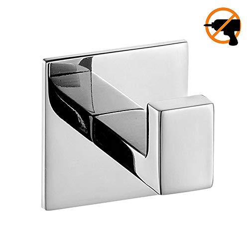 Homet ganci portasciugamani adesivo acciaiosus sus 304 acciaio inossidabile argento cromo bagno attaccapanni a parete senza foratura