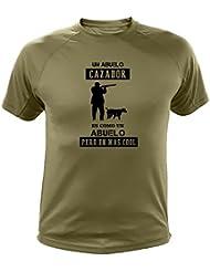 Camiseta de Caza, Abuelo Cazador - Ideas Regalos (30200, Verde, L)