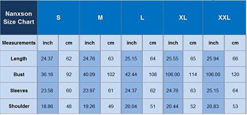 Nanxson(TM) Sweat-shirts À Capuche Aux Rayures En Coton Automne Hiver Pour Femmes WYW0026 Blanc