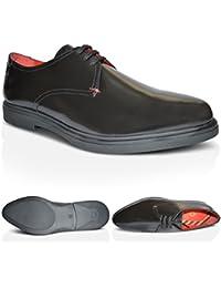 Xelay Mujer Casual Plano Zapatillas Floreado Cómodo Zapatillas Zapatillas Con Cordones - Negro Floreado Red, 38 EU