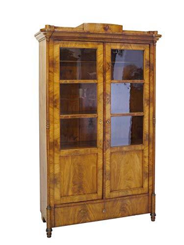 Antike Fundgrube Schrank Vitrinenschrank Bücherschrank Biedermeier um 1840 Kirsche B:108cm (8353)