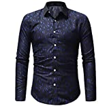 Luckycat Herren Casual Print Pullover Langarm-T-Shirt Top Bluse Mode 2018