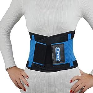ZSZBACE Körperhaltung Korrektor, Taille Trainer für Frauen Männer, Lordosenstütze Gürtel für unteren Rücken Schmerzlinderung