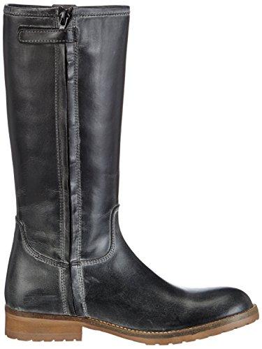 HIP Spin Profile with 2 loops on top leg, Bottes Classics de hauteur moyenne, doublure chaude fille Noir - Schwarz (Black - leather polish)