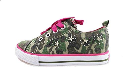 LULU' sneakers bambina verde tela AG653 (25 EU)