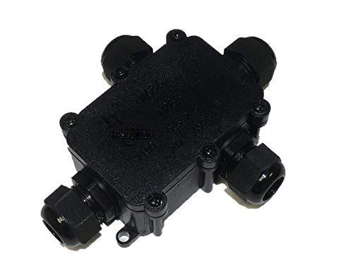 Boîte de connexion pour 4 prises Blanc Neuf avec WAGO connecteur de câble pour 3/5 broches, IP68, manchon de câbles étanche, connexion Box, pour 230 V ou 12 V/24 V, avec câble Jeu de joints pour différents diamètre