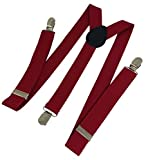 Ammvi Creations Carmine Red Suspenders f...