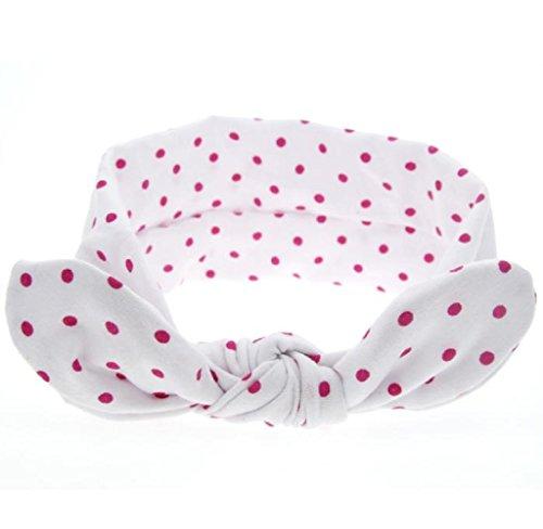 Stirnband, HARRYSTORE Baby Kaninchen Ohren Elastischer Wellen Punkt Bowknot Stirnband (Weißes Kaninchen Männlich Kostüm)