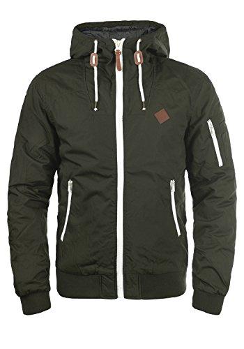 !Solid Tilly Herren Übergangsjacke Herrenjacke Jacke Mit Kapuze, Größe:M, Farbe:Climb Ivy (3785)