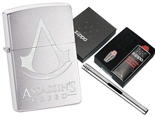Zippo Assassins Creed Brushed Chrome Zippo L B Chrome Lighter