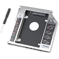 tinxi® 2nd HDD / SSD / DVD / CD-ROM adattatore caddy per Hard Disk SATA (Sata Disk Drive)