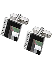 Ted Baker Burro Black Deco Style Shell Cufflinks