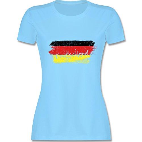 Handball WM 2019 - Deutschland Vintage - XXL - Hellblau - L191 - Damen Tshirt und Frauen T-Shirt