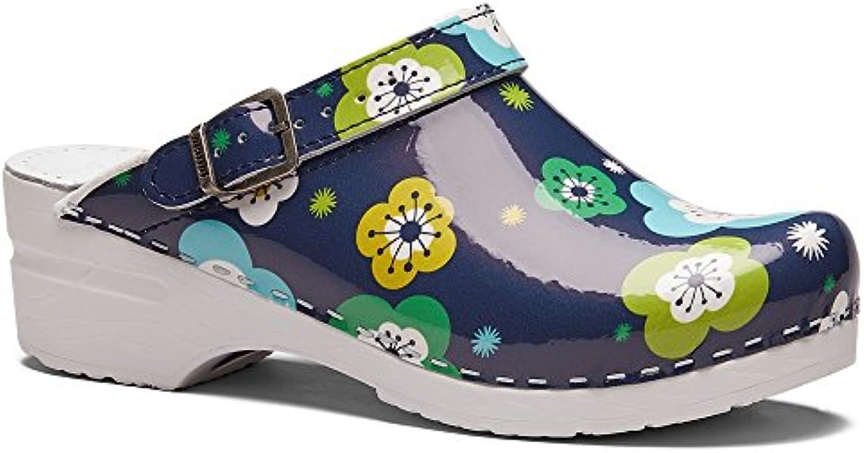 World of Clogs   Toffeln Toffeln Toffeln Flessibile klog 0724 - Fiore Blu | Consegna Immediata  | Uomo/Donna Scarpa  6fafc6