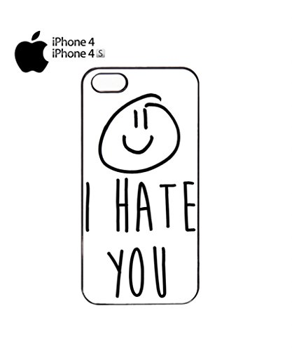 I Hate You X Smiley Mobile Cell Phone Case Cover iPhone 5c Black Noir