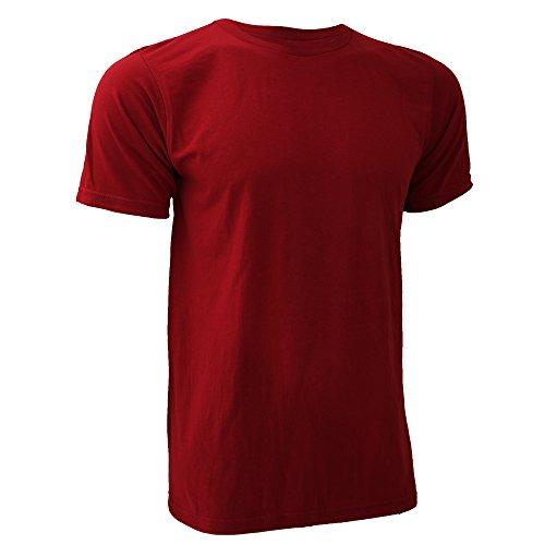 Anvil Herren T-Shirt Substainable Tee Dunkelrot
