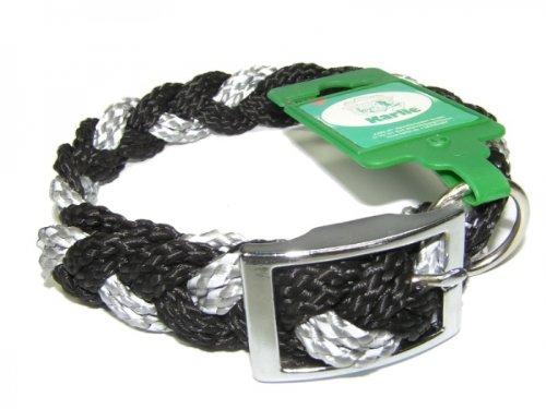Hundehalsband Reflex / schwarz silber Länge: 50 cm Sicherheit für Mensch & Tier - Würger Tiere