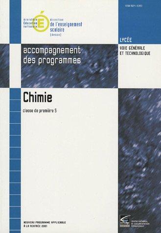 Chimie 1e S : Accompagnement des programmes