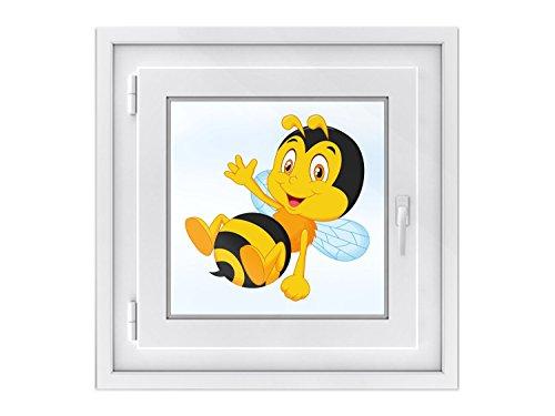 fototapete dachfenster Fenster-Tattoo - dekorative Sichtschutzfolie für Fenster in Kinderzimmer | schöne Fensterfolie - selbsthaftende Glasfolie | einfach anzubringende Fensterdeko | Fenstertattoo 40 x 40 cm - Design Bee