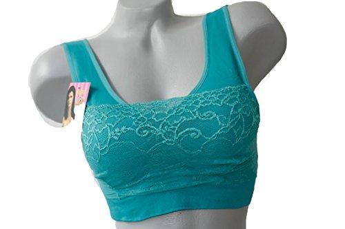 Bustier Soutien-gorge de sport microfibre avec pointe en S XL Multicolore - Turquoise
