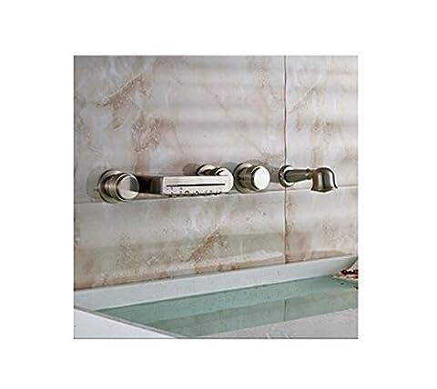 Gowe moderne mur romain Baignoire Salle de Bain Nickel brossé robinet baignoire W/main de douche
