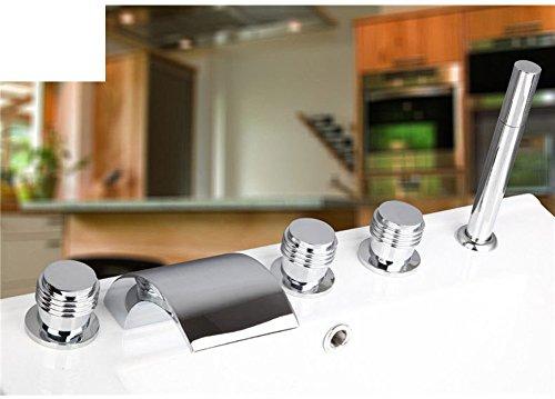 Wasserhahn Badewanne Teile (Messing Teilen warmen und kalten Wasserhähne/Bad Badewanne Wasserhahn Set von fünf/Fällt 5-Loch Armatur heiße und kalte Duschen-B)