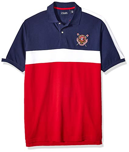 Big And Tall Mesh Polo Shirt (Chaps Herren Big and Tall Classic Fit Fashion Cotton Mesh Polo Shirt Poloshirt, Park Avenue Red Multi, X-Groß)