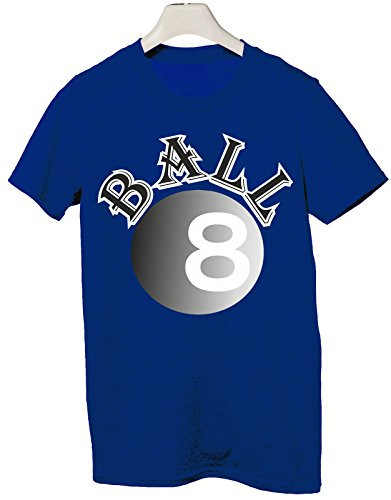 Tshirt biliardo pool 125 buche stecca italiana palla 8 - Tutte le taglie by tshirteria Blu