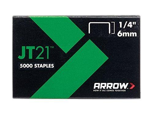 Arrow 160726 JT21 Boîte de 1000 Agrafes 6 mm