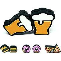 Tennis Feel Healthy Pack • Fast Food Dämpfer • Vibrationsdämpfer für Tennisschläger • Bier - Burger - Donuts - Pizza • 2er Pack