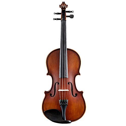 Miiliedy classico tradizionale artigianale fatto a mano in legno violino principiante bambino adulto pratica giocando violino professionale con violino box arco colofonia corde extra panno di lucidatu