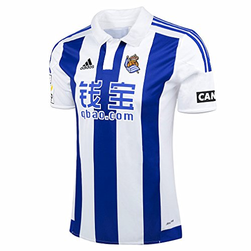 Real Sociedad domicile 2015/2016 adidas-Maillot officiel S Blanco / Azul / Negro