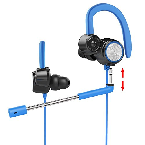 Cuffie gaming lauva, cuffie con microfono dual-driver in-ear, antirumore, noise-cancelling, cuffie con cavo per ps4, xbox one, nintendo switch, laptop, cellulare, pc, tablet, mac