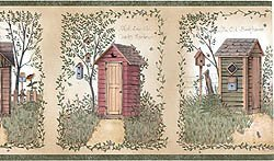 Linda Spivey Outhouses themed bathroom Collection by Chesapeake by Chesapeake