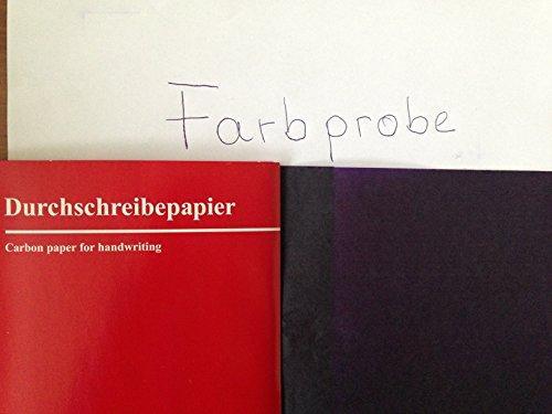 Durchschreibepapier Kohlepapier Blaupapier 25 Blatt violett A 5 Carbonpapier