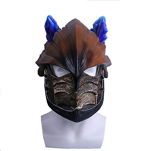 (Maske YN Spiel Monster Hunter World Helm Wind Drift Drachen Helm Halloween Spielen Lustige Requisiten Cos)