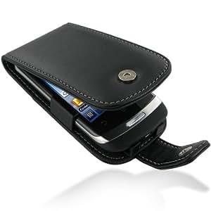 Pdair Black Leather Flip Carry Case Cover for Huawei IDEOS X3 U8510 Blaze + belt clip