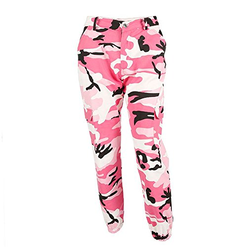 BURFLY Frauen Sport Camo Cargo Hosen 2018 Neue Jugend Outdoor Casual Camouflage Hosen Jeans (M, - Frauen Cargo-hosen Camo