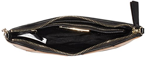 French Connection Damen Tilly Tiger PU Crossbody Schultertaschen, 25x17x2 cm Schwarz (MANUKA/BLACK 90)
