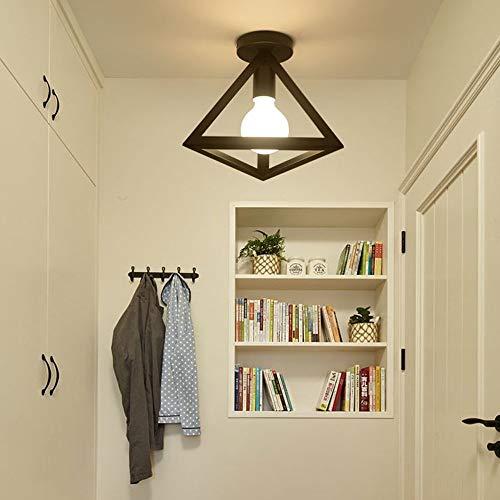 OOFAY LIGHT Mini Deckenleuchte Modern Eckig Design Deckenlampe 1 flammig E27 für Küche Flur Shop Balkon Garderobe Lagerraum Eisen Cube Rahmen -
