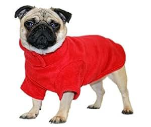 Cosipet Fleece Coat, 12-inch/ 30 cm, Red
