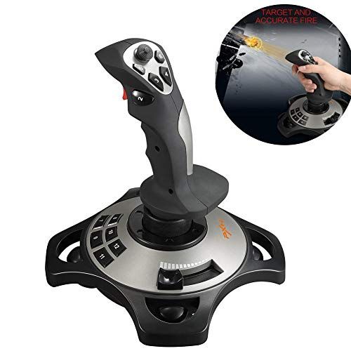 Joystick PC USB Controller zur Simulation von Flugzeug/Raum, mit PC-Spiel, mit analogem Vibrationsregler, für PXN-2113, Windows XP/Vista/7/8/10, Computerspiel