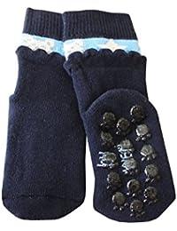 Weri Spezials Unisexe Bebes et Enfants ABS Eponge 3D Frill Pantoufle Chaussons Chaussettes Antiderapants Marine