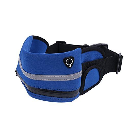 Marsupio impermeabile Fanny borsa per per 7.9in sacca da escursionismo arrampicata esercizio hip Bum Phone chiave e denaro, Sky Blue Navy Blue