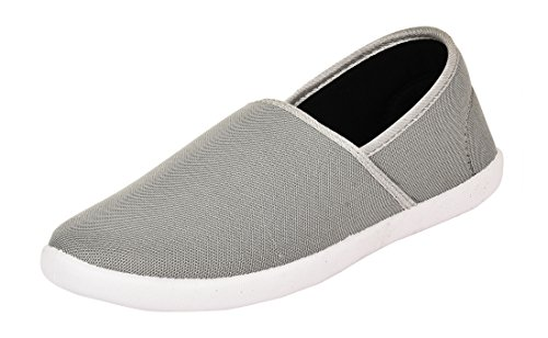 Foot n Style Men's Grey Canvas Casual Shoes