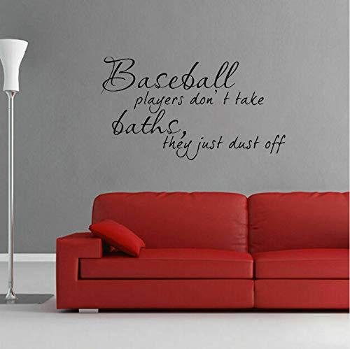 Baseball Player Baden Sport Dekoration PVC Wandaufkleber Aufkleber Wohnzimmer 55x30.6CM -
