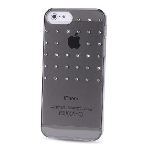 Puro IPC5CRYBLKSW2 Crystal Cover mit Swarovski Elements Grid für Apple iPhone 5 schwarz schwarz
