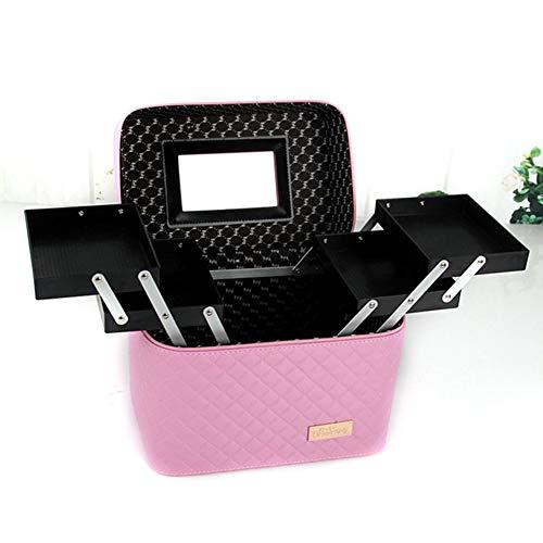 ZCPDP Doppelte offene Design Make-up Kit wasserdicht und schmutzig große Kapazität Multi-Layer Mobile Passwort mit Schloss Make-up Nail Tattoo Box Reise Aufbewahrungsbox,color3,27x17x23cm -
